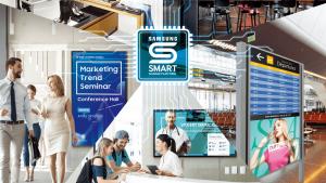 サムスン・スマートサイネージ SAMSUNG Smart Signage STBレス × クラウド配信 × 世界一のディスプレイで デジタルサイネージの運用・管理をスマートに